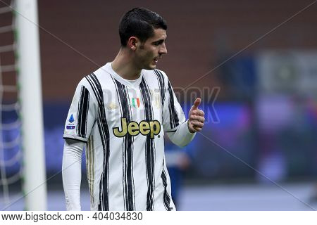 Milano, Italy. 17th January 2021 . Alvaro Morata Of Juventus Fc  During The Serie A Match Between Fc