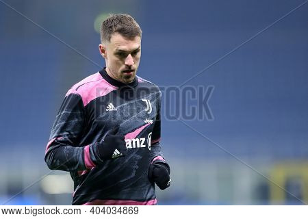 Milano, Italy. 17th January 2021 . Aaron Ramsey Of Juventus Fc  During The Serie A Match Between Fc