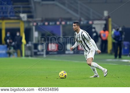 Milano, Italy. 17th January 2021 . Cristiano Ronaldo Of Juventus Fc  During The Serie A Match Betwee