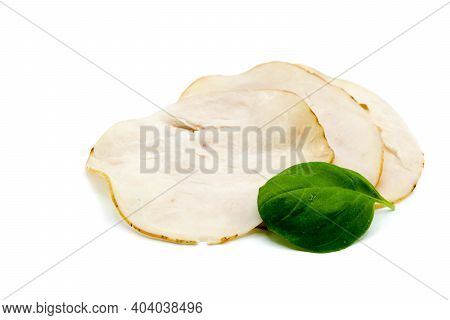 Turkey Breast Sausage Isolated On White Background
