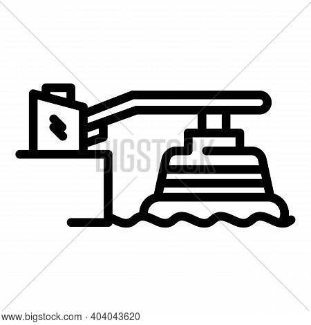 Hydro Power Dam Icon. Outline Hydro Power Dam Vector Icon For Web Design Isolated On White Backgroun