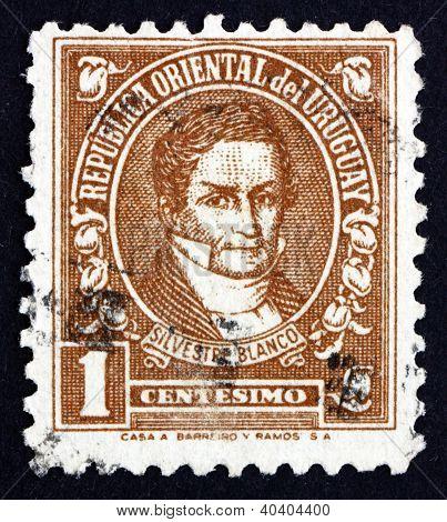 Postage stamp Uruguay 1946 Silvestre Blanco, Patriot