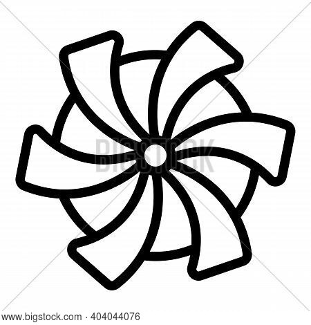 Hydro Power Thermal Windmill Icon. Outline Hydro Power Thermal Windmill Vector Icon For Web Design I