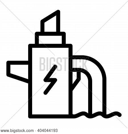 Hydro Power Reactor Icon. Outline Hydro Power Reactor Vector Icon For Web Design Isolated On White B