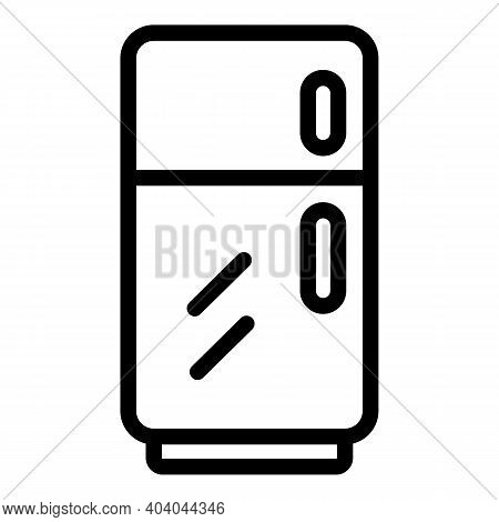 Fridge Consumption Icon. Outline Fridge Consumption Vector Icon For Web Design Isolated On White Bac