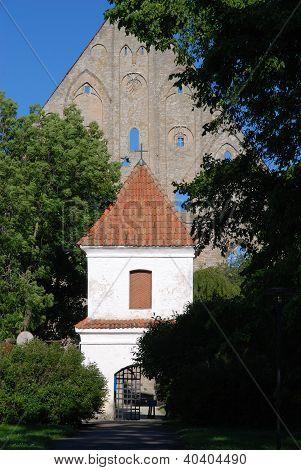 Ruins of old gothic catholic Pirita monastery in Tallinn subdistrict Kloostrimetsa, Estonia poster