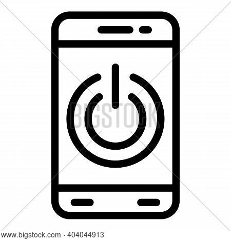 Turn Off Smartphone Icon. Outline Turn Off Smartphone Vector Icon For Web Design Isolated On White B