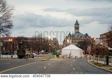 Washington Dc Lock Down During 2021 Joe Biden Inauguration