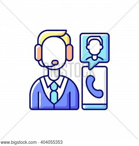 Customer Service Department Rgb Color Icon. Support Professionals. Providing Speedy, Effective Resol
