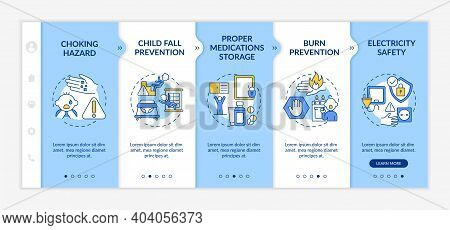 Childproofing Home Onboarding Vector Template. Babyproof House. Parental Care For Raising Kid. Child