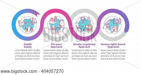 Health Programs Principles Vector Infographic Template. Gender Responsive Presentation Design Elemen