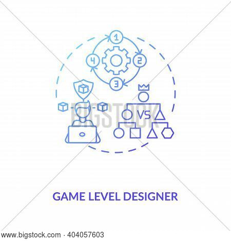 Game Level Designer Concept Icon. Game Designers Types. Makes Good Gameplay For Fan Gamers. Proffesi