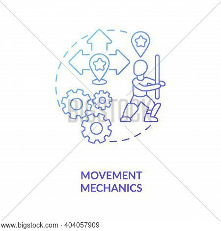 Movement Mechanics Concept Icon. Game Design Industry Benefits. Developing Realistic Hero Movement.