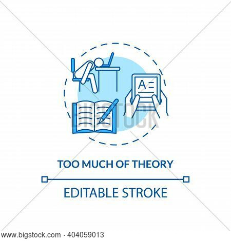 Too Much Theory Concept Icon. Staff Training Disadvantage Idea Thin Line Illustration. Deeper Concep