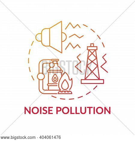 Noise Pollution Concept Icon. Climate Justice Idea Thin Line Illustration. Vector Isolated Outline R