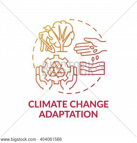 Climate Change Adaptation Concept Icon. Nature Protection Idea Thin Line Illustration. Climate Chang