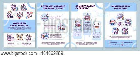Overhead Costs Control Brochure Template. Manufacturing Overheads. Flyer, Booklet, Leaflet Print, Co