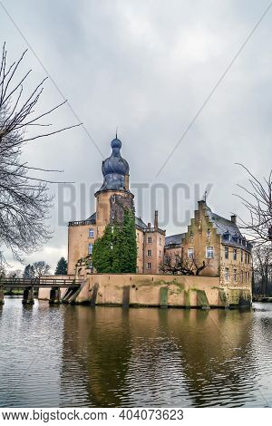 Gemen Castle Was Built In 1411  In The Middle Of The Lake, Germany