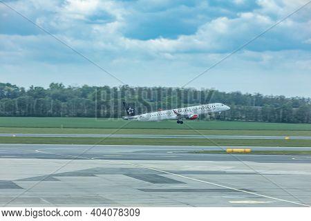 Vienna, Austria 06.29.2018- The Vienna International Airport, Or Flughafen Wien-schwechat (vie), Is