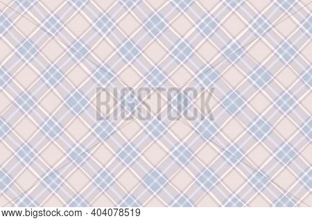 Light Blue White Beige Faded Vintage Checkered Background. Space For Graphic Design. Checkered Textu