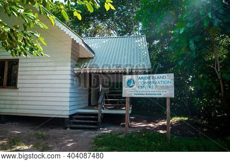 Aride Island, Seychelles - May 12, 2010: Ranger Station Of The Aride Conservation Centre.