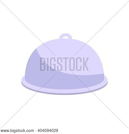 Flat Cloche For Serving Dish In Restaurant Vector Illustration