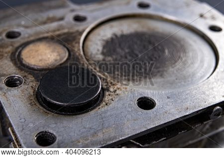 The Valves Of The Exhaust And Intake Systems Of The Internal Combustion Engine. Cylinder With Valve