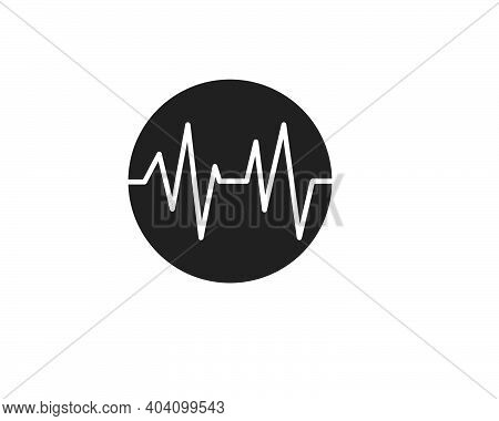 Pulse Line,equaizer And Sound Effect Ilustration Logo Vector Icon