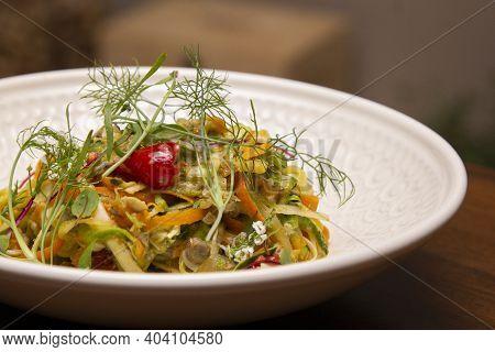 Traditional Italian Spaghetti With Clams, Spaghetti Alle Vongole.