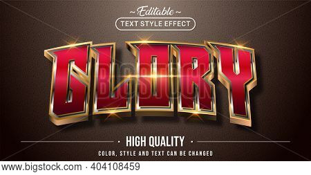 Editable Text Style Effect - Glory Text Style Theme. Graphic Design Element.