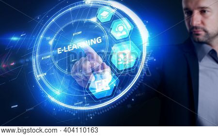 Business, Technology,   Internet And Network Concept. E-learning Education Internet Technology Webin