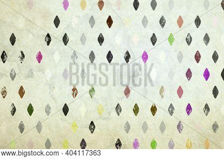 old paper texture, retro rhombus background