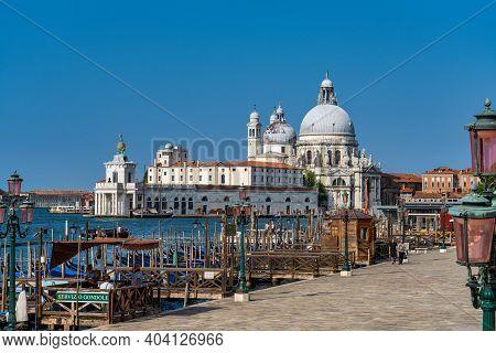 Venice, Italy - Jun 30, 2020: Grand Canal With Basilica Of St. Mary Of Health, Di Santa Maria Della