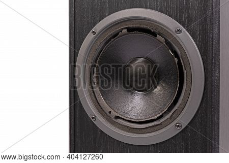 Broken Audio Speaker, Done Playing Music, Isolated