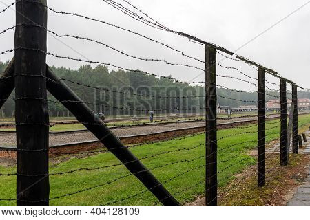 Sztutowo, Poland - Sept 5, 2020: The Former Nazi Germany Concentration Camp, Stutthof, Poland