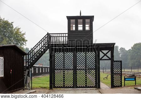Sztutowo, Poland - Sept 5, 2020: The 'death Gate' At The Former Nazi Germany Concentration Camp, Stu
