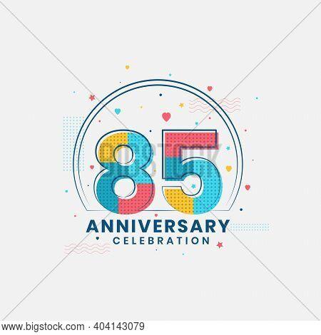 85 Years Anniversary Celebration, Modern 85th Anniversary Design