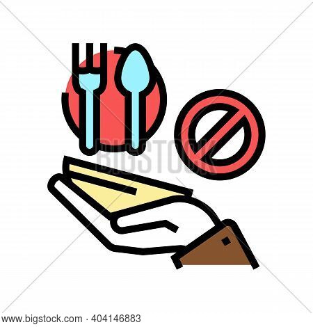 Hungry Poverty Problem Color Icon Vector. Hungry Poverty Problem Sign. Isolated Symbol Illustration