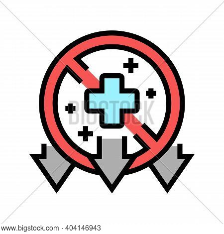 Illness, Poverty Problem Color Icon Vector. Illness, Poverty Problem Sign. Isolated Symbol Illustrat