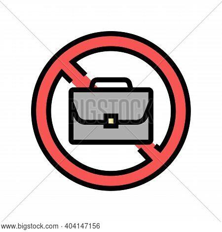 Job Lost Poverty Problem Color Icon Vector. Job Lost Poverty Problem Sign. Isolated Symbol Illustrat