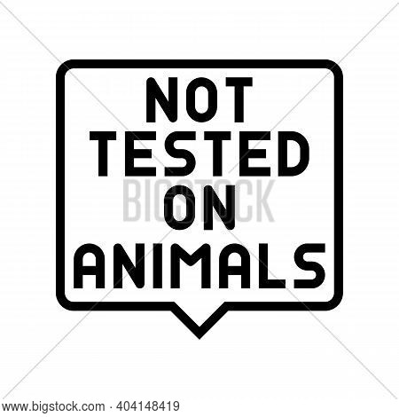 Not Tested On Animals Line Icon Vector. Not Tested On Animals Sign. Isolated Contour Symbol Black Il