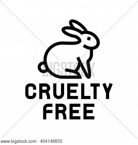 Cruelty Free Line Icon Vector. Cruelty Free Sign. Isolated Contour Symbol Black Illustration