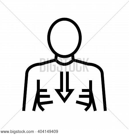 Weight Losing Line Icon Vector. Weight Losing Sign. Isolated Contour Symbol Black Illustration