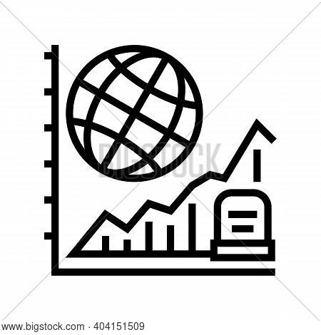 Starving, Increase Mortality Poverty Problem Line Icon Vector. Starving, Increase Mortality Poverty