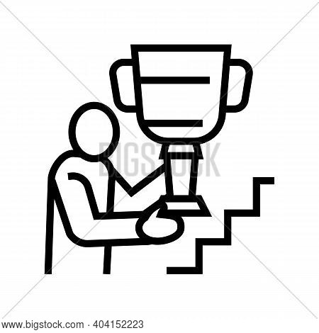 Self-realization People Value Line Icon Vector. Self-realization People Value Sign. Isolated Contour