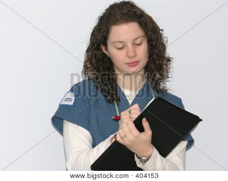 Nurse Reading Chart