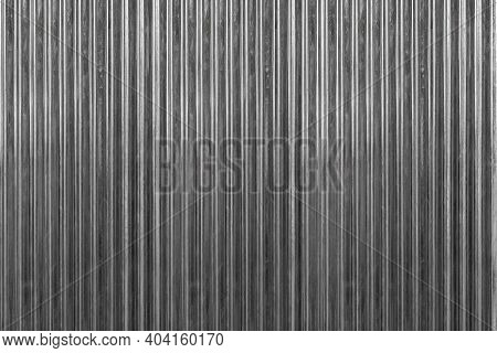 Black Silver Corrugated Metal Background And Texture Surface Or Galvanize Steel