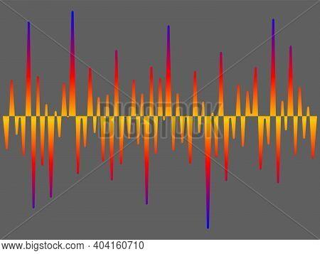 Colorful Pulse Music Player Equalizer. Soung Wave Background. Audio Electronic Element. Jpeg Illustr