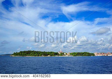Touristic view of the resort of Rovinj, Istrian Peninsula, Croatia, Europe