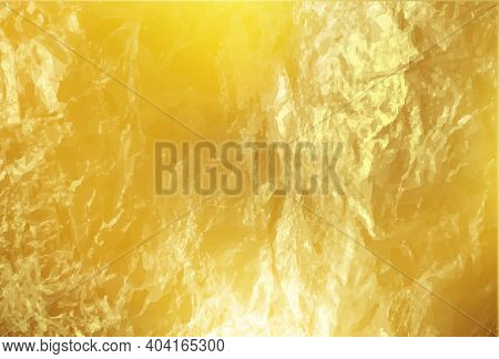 Gold Foil Texture. Shiny Gold Texture Foil, Paper Or Metal. Vector Golden Background
